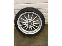 Bmw 5x120 17 inch alloy and Bridgestone tyre