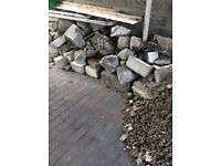 Broken up breeze blocks and rubble