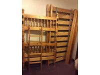 bunk beds without mattresses