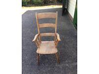 Antique Farmhouse Kitchen Chair