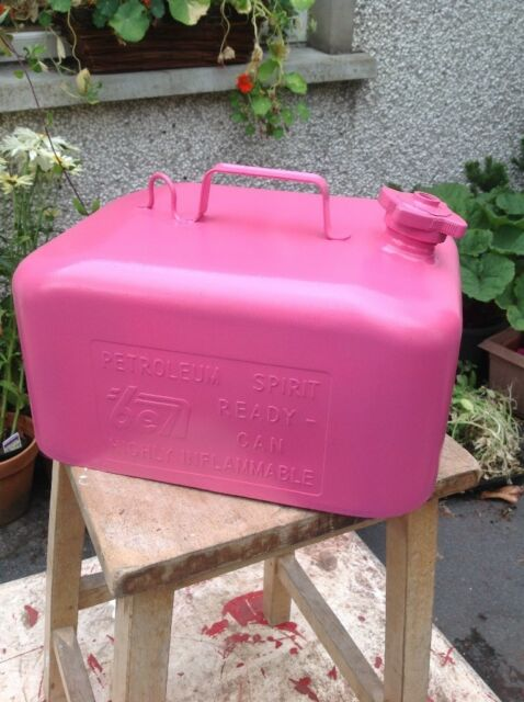 Vintage Shocking Pink Petrol Can  80ea5344ad407
