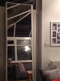 Mirrored built in wardrobe doors floor to ceiling x2