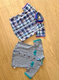 Two Ted Baker baby shirts one size 12-18 months and one 18-24 months for a baby boy