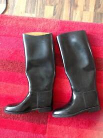 Black long leg Riding boots