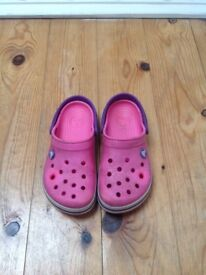 Pink crocs size 12/13