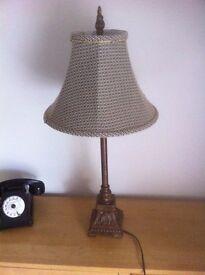 Metal gold table lamp