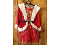 Girls age 3-4 Christmas dressing up outfit