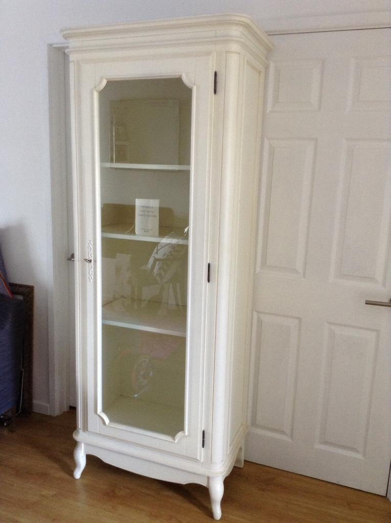 Laura Ashley Provencale Display Cabinet With Glass Door Locking