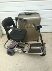 LUGGIE FOLDABLE MOBILITY SCOOTER - CHAMPAGNE COLOUR
