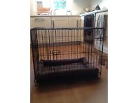 Medium Dog Crate with Padded Bed