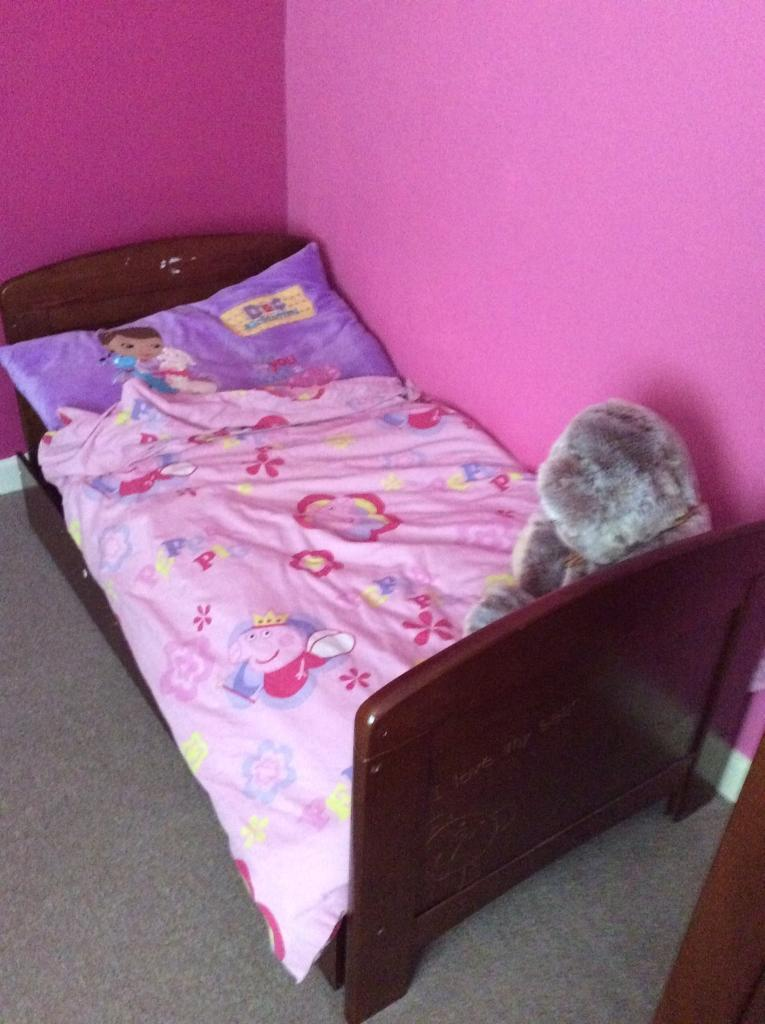 Nursery furniture setin Thornbury, BristolGumtree - Lovely 3 piece set of cot/cotbed, wardrobe and changing table in the I love my bear range from toys r us. It has general wear & tear marks but nothing broken and can still be used in full. Plenty of life left in it. Cot in in cotbed form at the...