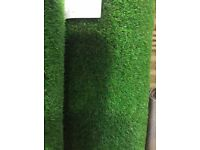 Top quality artificial grass roll end, 5.24 x2 m half price now £158