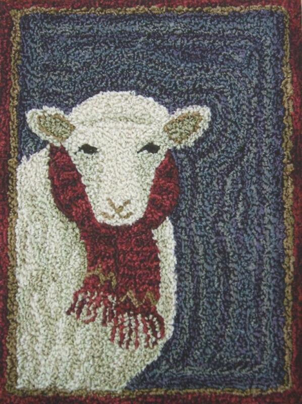 For Ewe PN165 Sheep Punchneedle Punch Needle Embroidery Teresa Kogut Pattern
