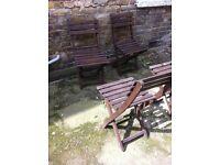 4 patio/garden chairs