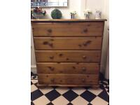 Pine 5 Drawers Chest of Drawers