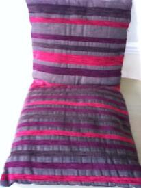 2 lovely colours square cushions
