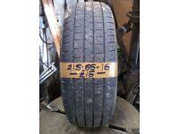 215-65-16 Maxtrek 98H 4mm Part Worn Tyre