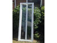 White Bi Fold Shower Door