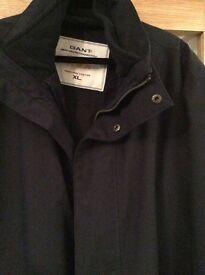 Gant mens navy XL mid length jacket