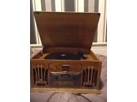 Vintage record player/cd/tape