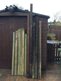 Reclaimed timber posts