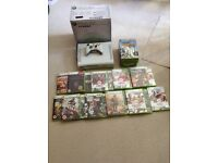 Xbox 360 and Controller with 20 Games
