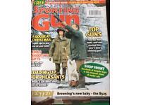 Sporting gun magazines.