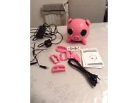 pink ipig speaker / docking station for iphone/ipod or other mobile/mp3