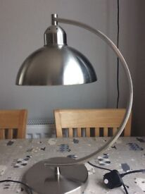 Chrome / stainless Steel Table Lamp