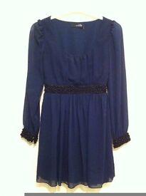 Navy beaded dress size 10