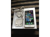 Unlocked iPhone 6 boxed with unused head phones, charging usb lead and plug