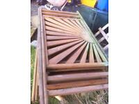 Decking sunburst panels