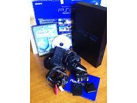 Sony PlayStation 2 Black Console_DVD Remote Control_8MB Card_DVD Region X_Boxed_GradeA
