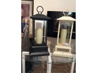 2 FOOT TALL METAL LANTERNS/HEATERS