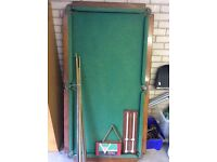 TABLETOP SLATEBED 1/4 SIZE SNOOKER TABLE WITH ACCESSORIES