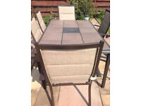 Garden set table and six chairs one year old not needed now