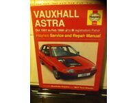Haynes Workshop Manual For Vauxhall Astra 91-98