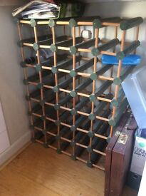Wine Rack. Green and wooden