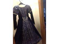 Beautiful blue and silver princess dress