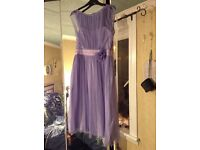 BNWT - DEBUT lilac corsage dress size 12 stunning colour (RRP£79)