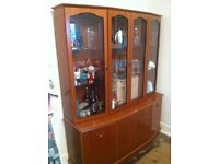 Display Cabinet / Wall Unit Glass doors and shelves.