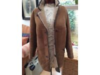Womens sheepskin coat size14