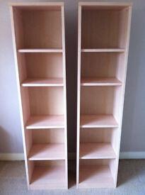 2X Book cases