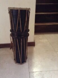 African tribal drum and a vintage drum for sale