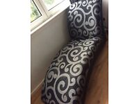 Chaise grey/black