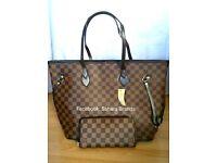 Neverfull Bag Check Brown Purse Speedy Ladies Louis Vuitton Lv FREE POST Handbag £45