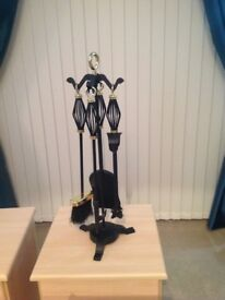Lovely black companion set hardly been used