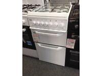 Beko 50cm gas cooker white £245. New/graded 12 month Gtee