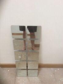 Wall mirror 31cm w 81 cm h