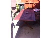 Outdoor folding table and 1 chair